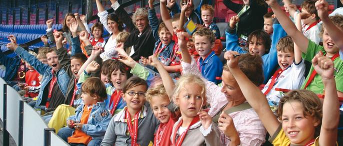 Kidstour bij Feyenoord