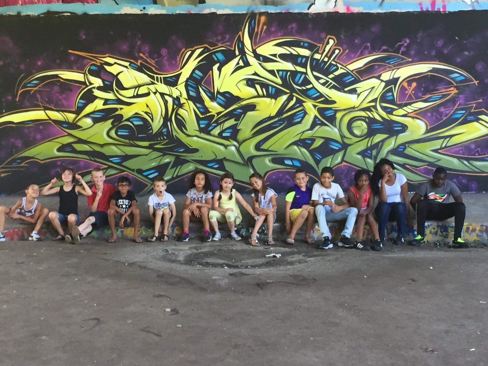 Graffiti feestje Vinkeveen