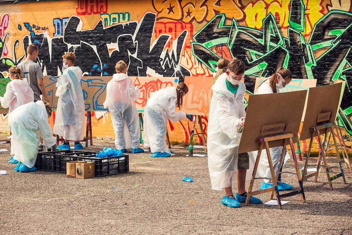 Graffitifeestje bij Je Leukste Graffiti