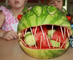traktaktie-watermeloen-dino